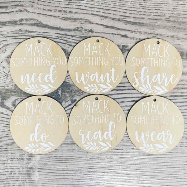 MDF Gift Tags