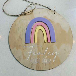 Rainbow Name Plaque